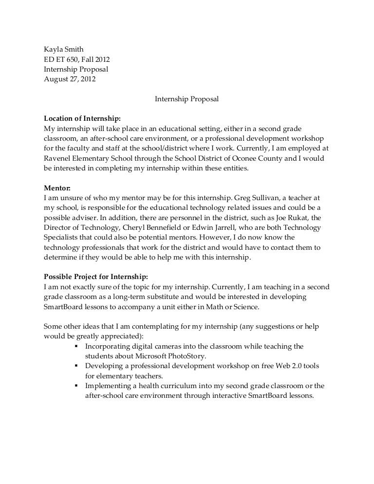 3247 internship proposal template
