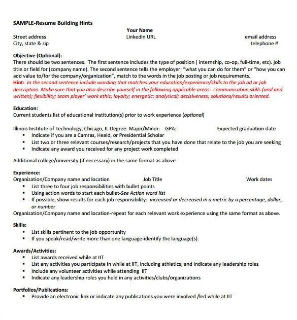 Internship Resume Samples for Computer Science 8 Internship Resume Templates Pdf Doc Free Premium