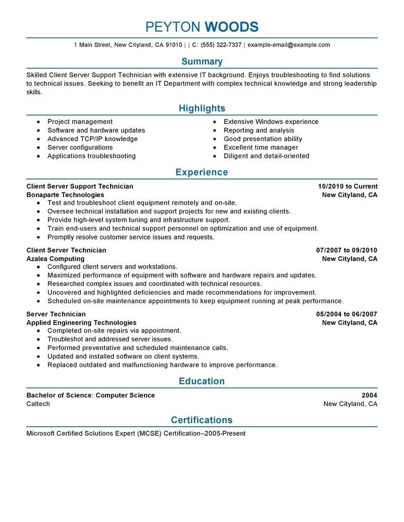 It Professional Resume Template 11 Amazing It Resume Examples Livecareer