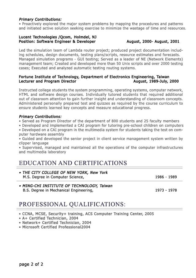 It Professional Resume Template Professional Level Resume Samples Resumesplanet Com