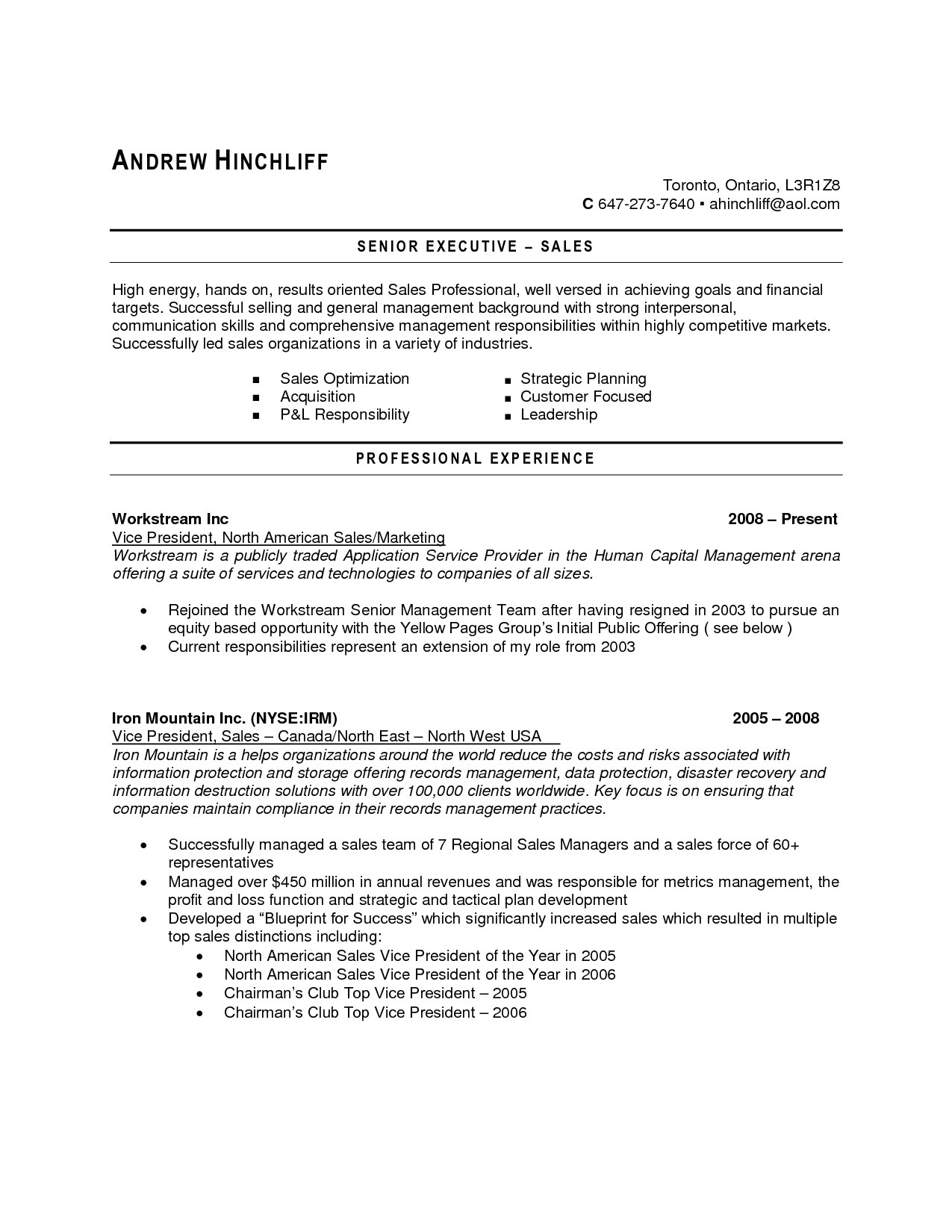 It Resume Sample Canada Resume Canada Example Examples Of Resumes