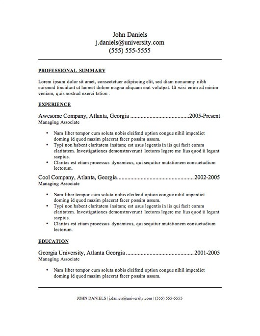 It Resume Templates Free My Perfect Resume Templates