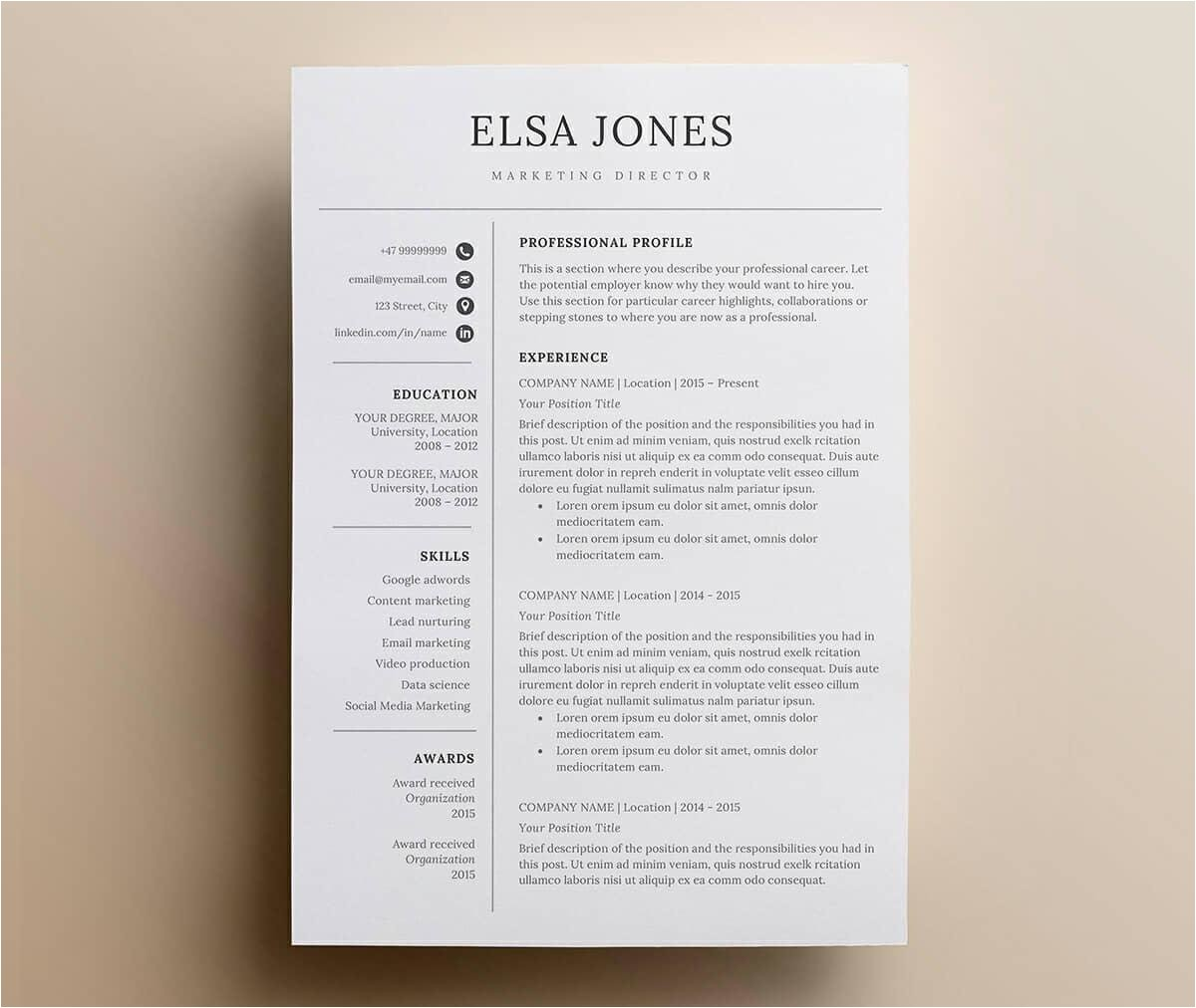 Iworkcommunity Resume Templates Simple Resume Templates 15 Examples to Download Use now