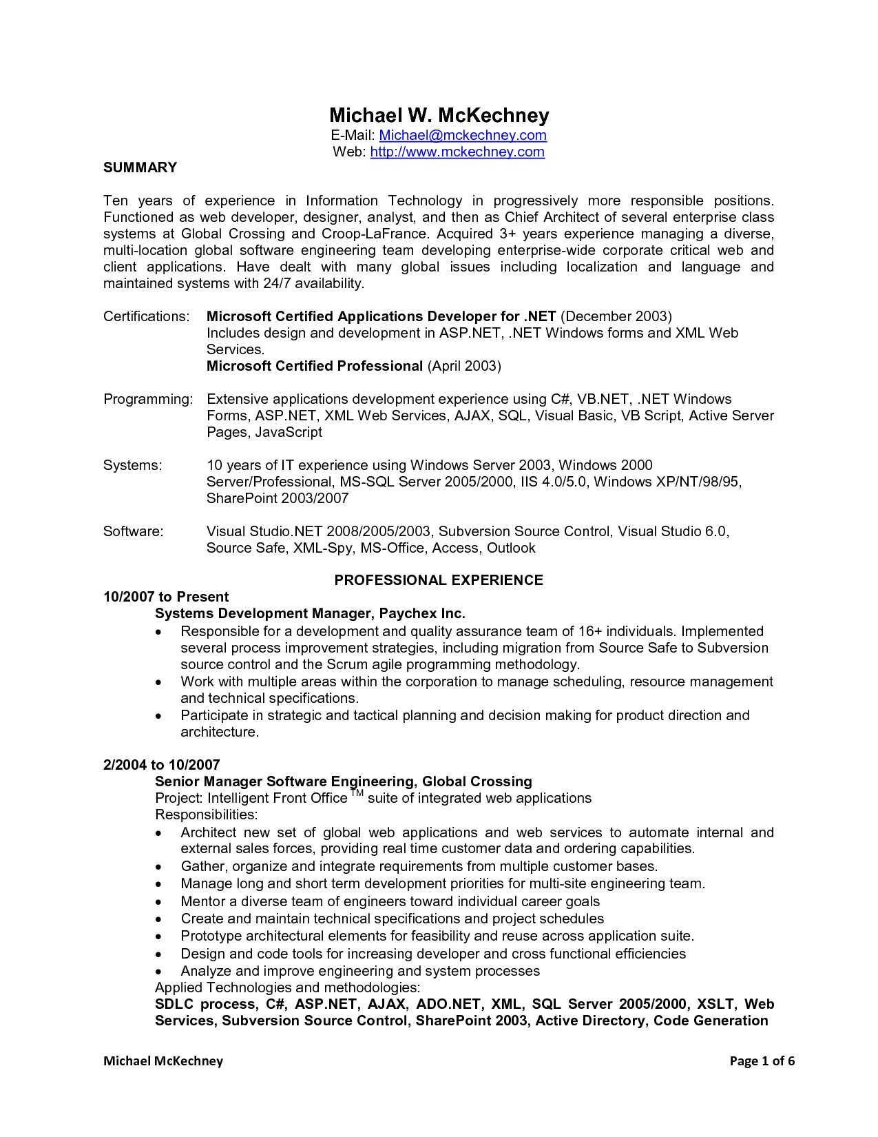 java 4 years experience resume