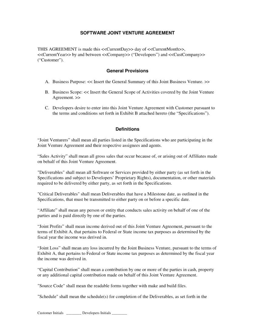 Joint Venture Proposal Template 5 Joint Venture Proposal Templates Proposal Template