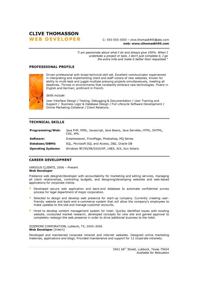 Junior C# Developer Resume Sample Resume Makeover Junior Web Developer Resume Blue Sky