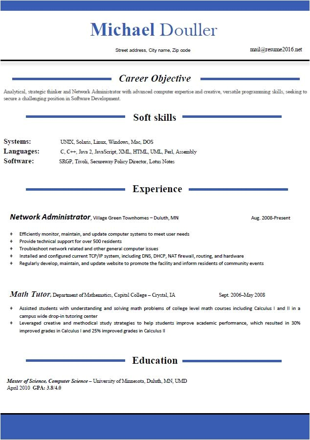Latest Resume Template Resume format 2016 12 Free to Download Word Templates