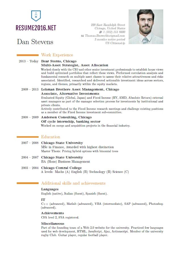 latest resume format 2016 whats new
