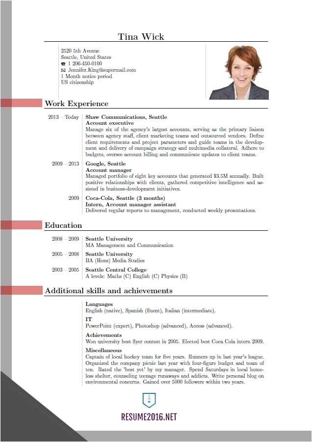 latest resume format curriculum vitae samples pdf template 2016