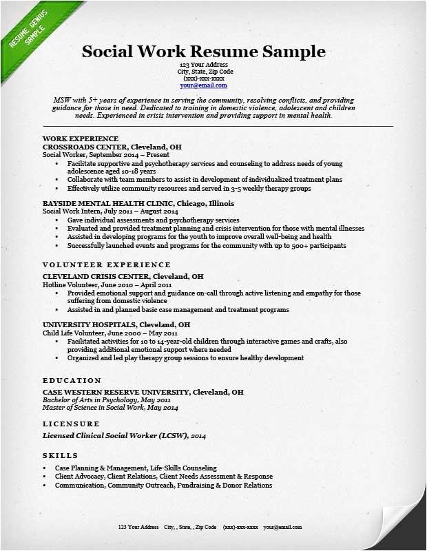 social worker resume examples