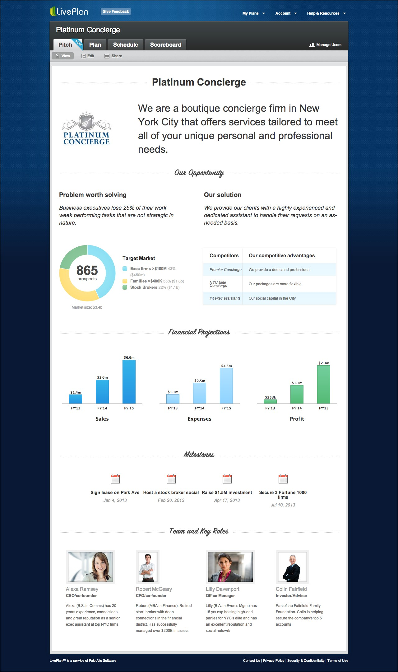 Liveplan Business Plan Template New Business Pitch Feature Comes to Liveplan