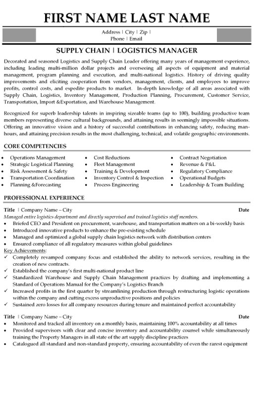 Logistic Manager Resume Sample top Logistics Resume Templates Samples