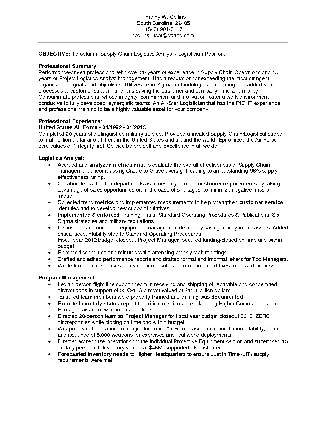 clinical services manager sample resume
