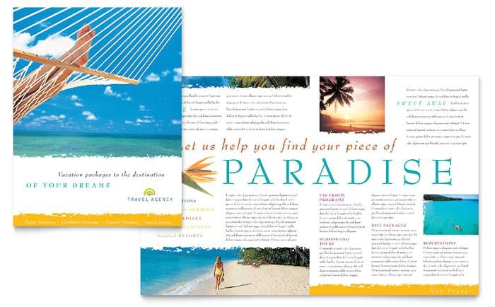travel agency brochure template design tr0010101