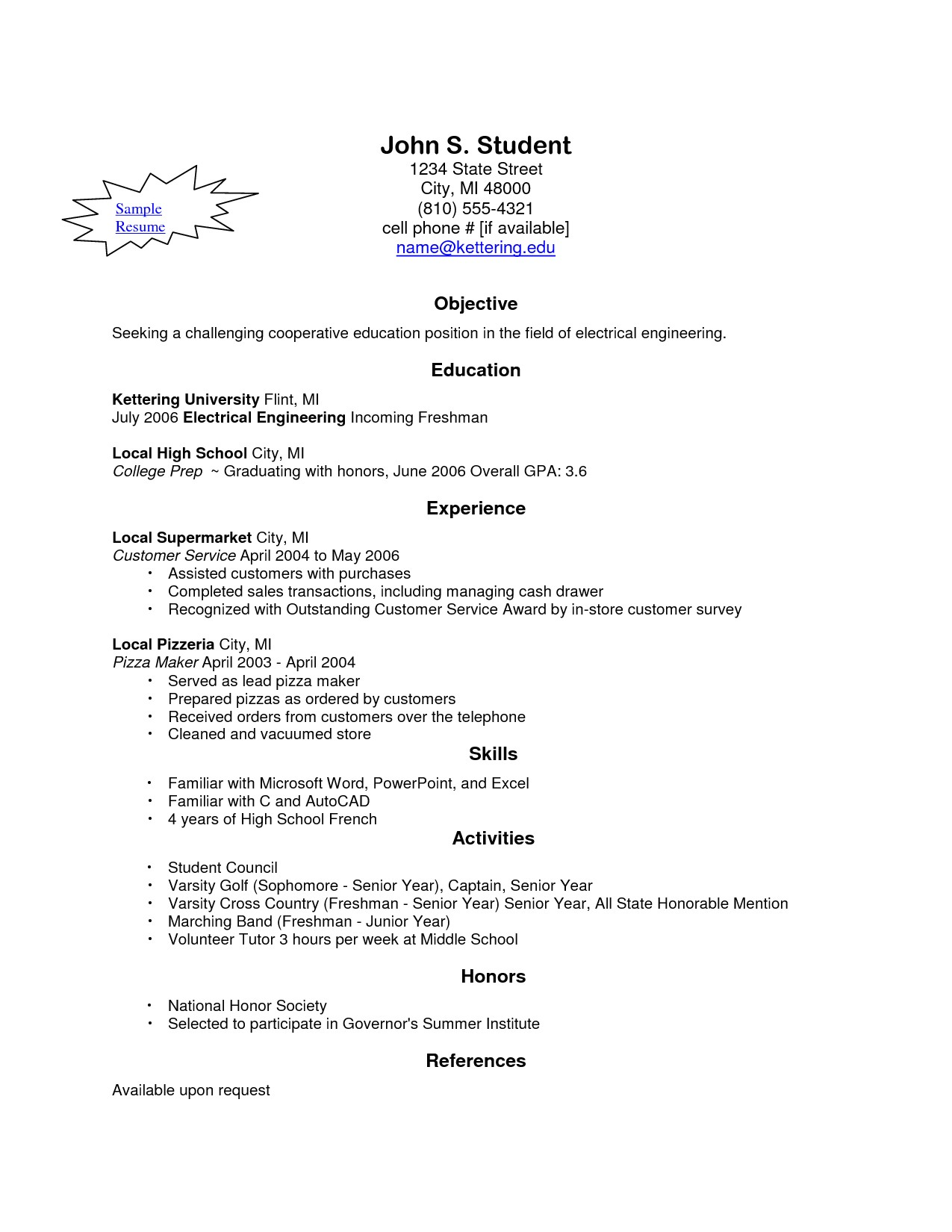 build my own resume for free