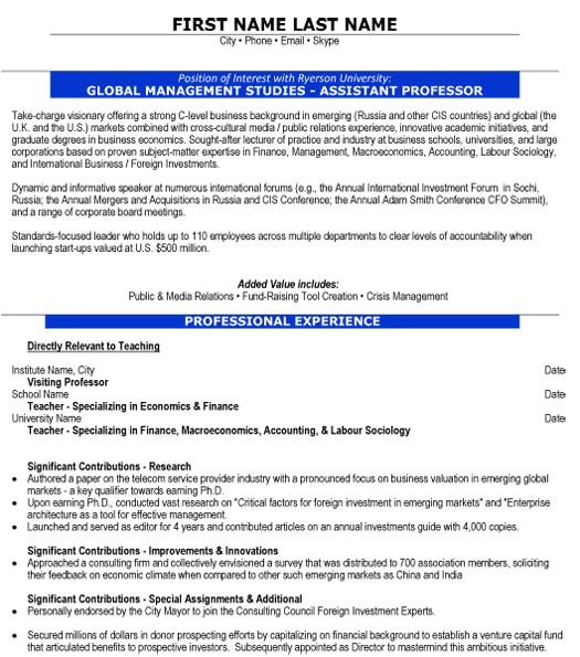 Management Faculty Resume Sample top Education Resume Templates Samples
