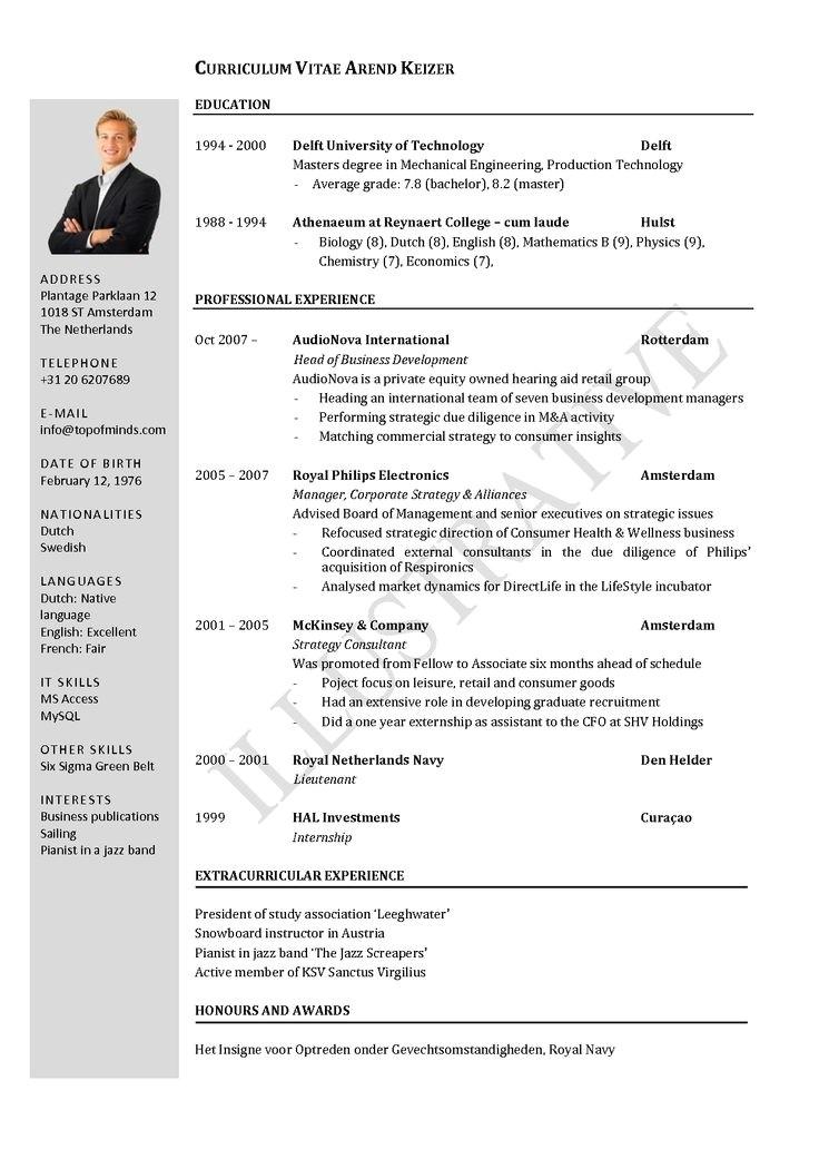 mckinsey resume