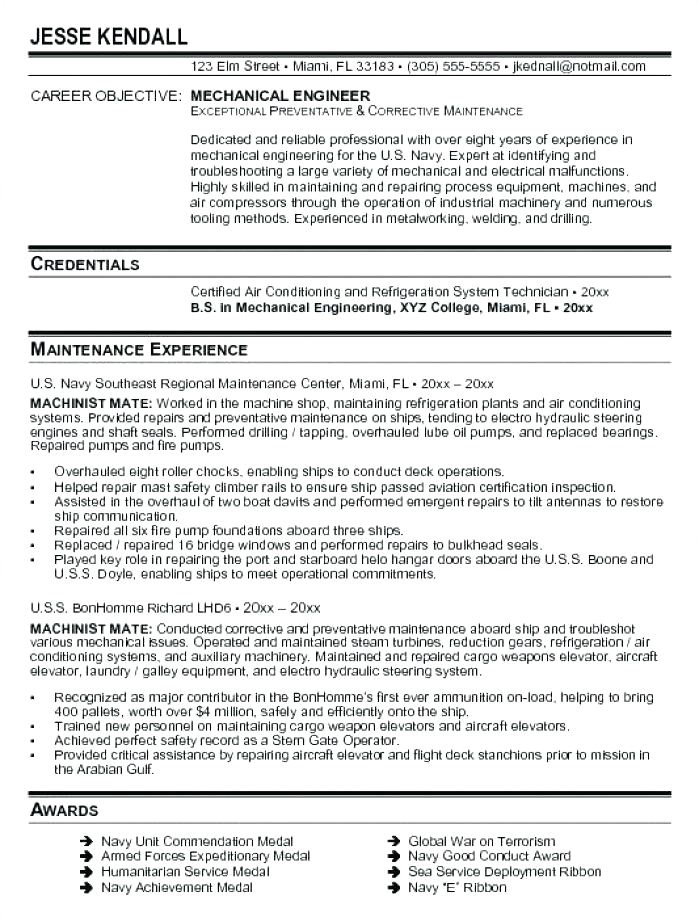 mechanical production engineer resume