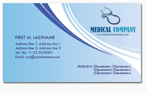 4 medical business cards templates in psd
