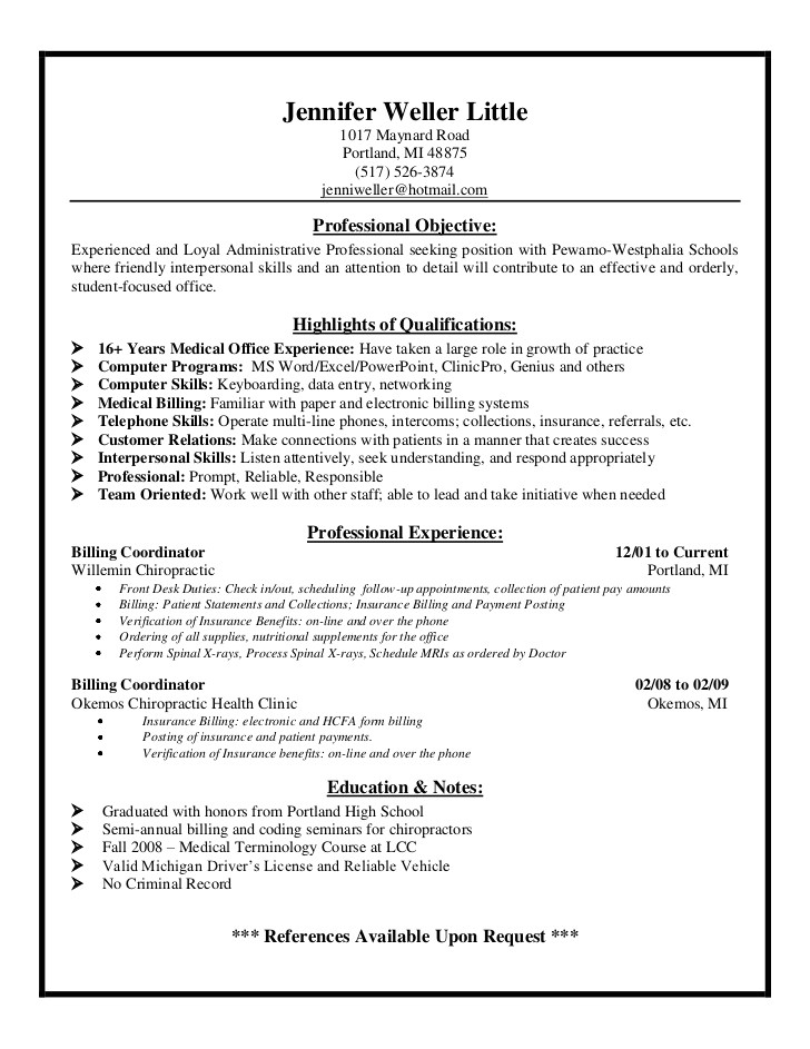 Medical Coder Resume Sample Example Resume Medical Biller Resume Sample