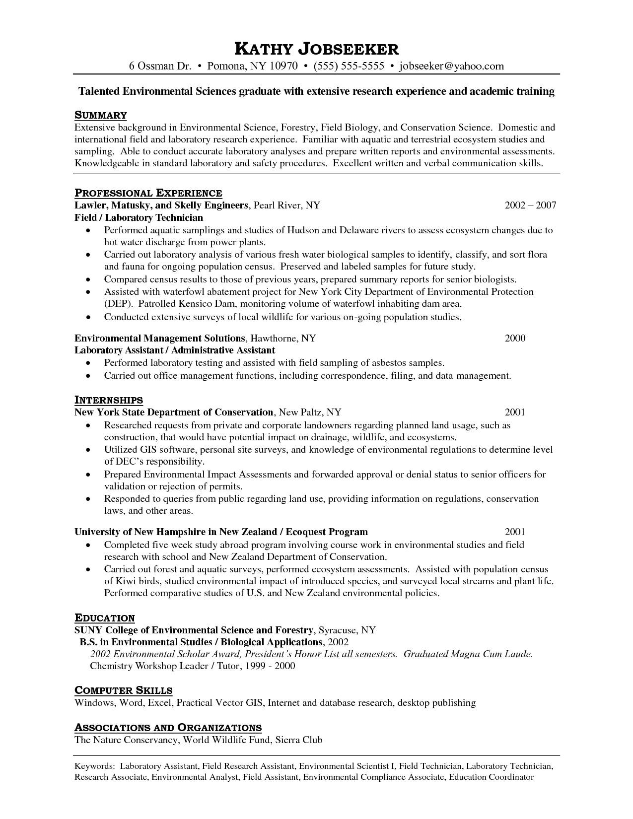 lab tech resume 595