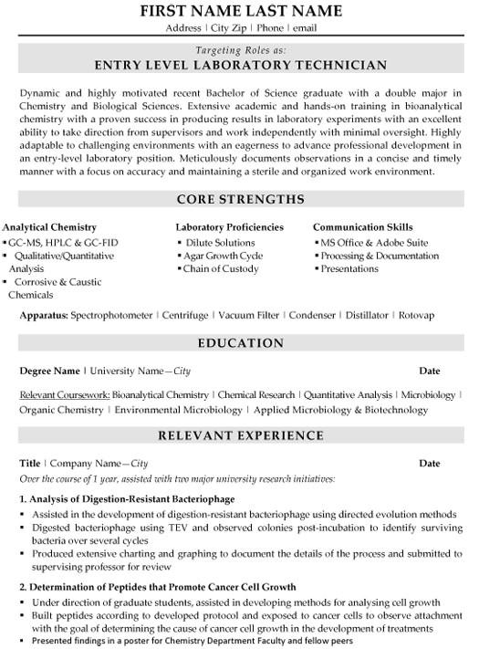 Medical Lab Tech Resume Sample top Biotechnology Resume Templates Samples