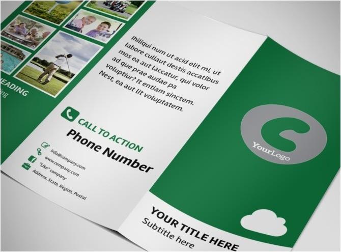 golf membership tri fold brochure template