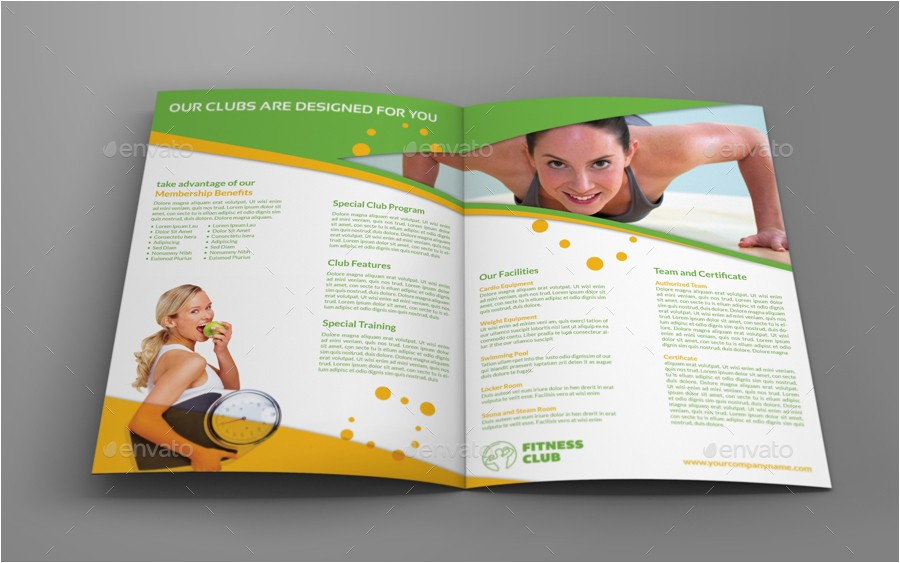 membership brochure template fitness gym bi fold brochure template owpictures graphicriver template