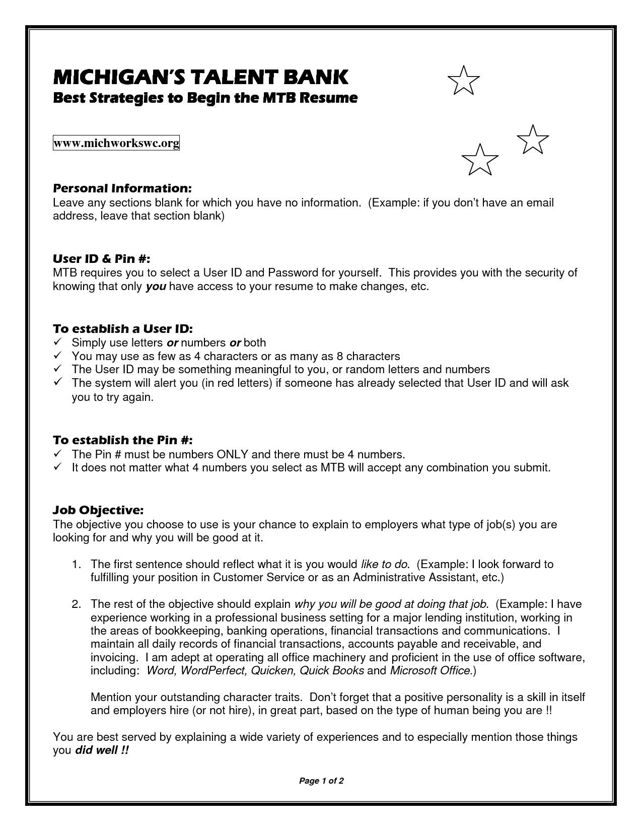 Michigan Works Resume Template Michigan Works Resume Template Resume Template 2018