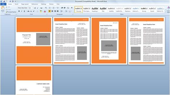Microsoft Word 2013 Proposal Templates Modern Proposal Template for Microsoft Word