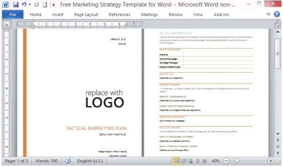 marketing plan template microsoft word free marketing strategy template for word free