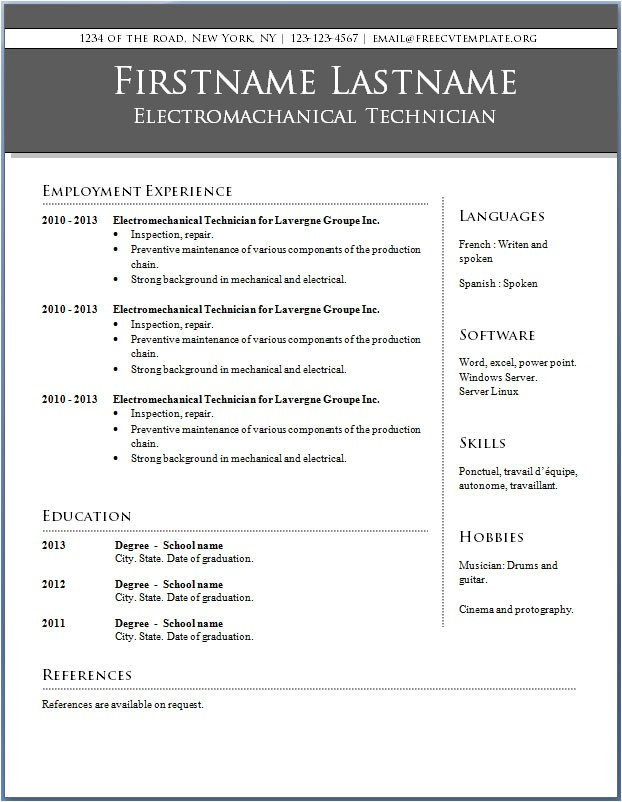 Microsoft Word Resume Templates Free Resume Templates Word Free Learnhowtoloseweight Net