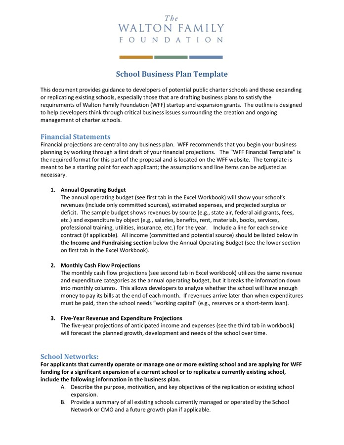 Middle School Business Plan Template Middle School Business Plan Project Business Plan Template