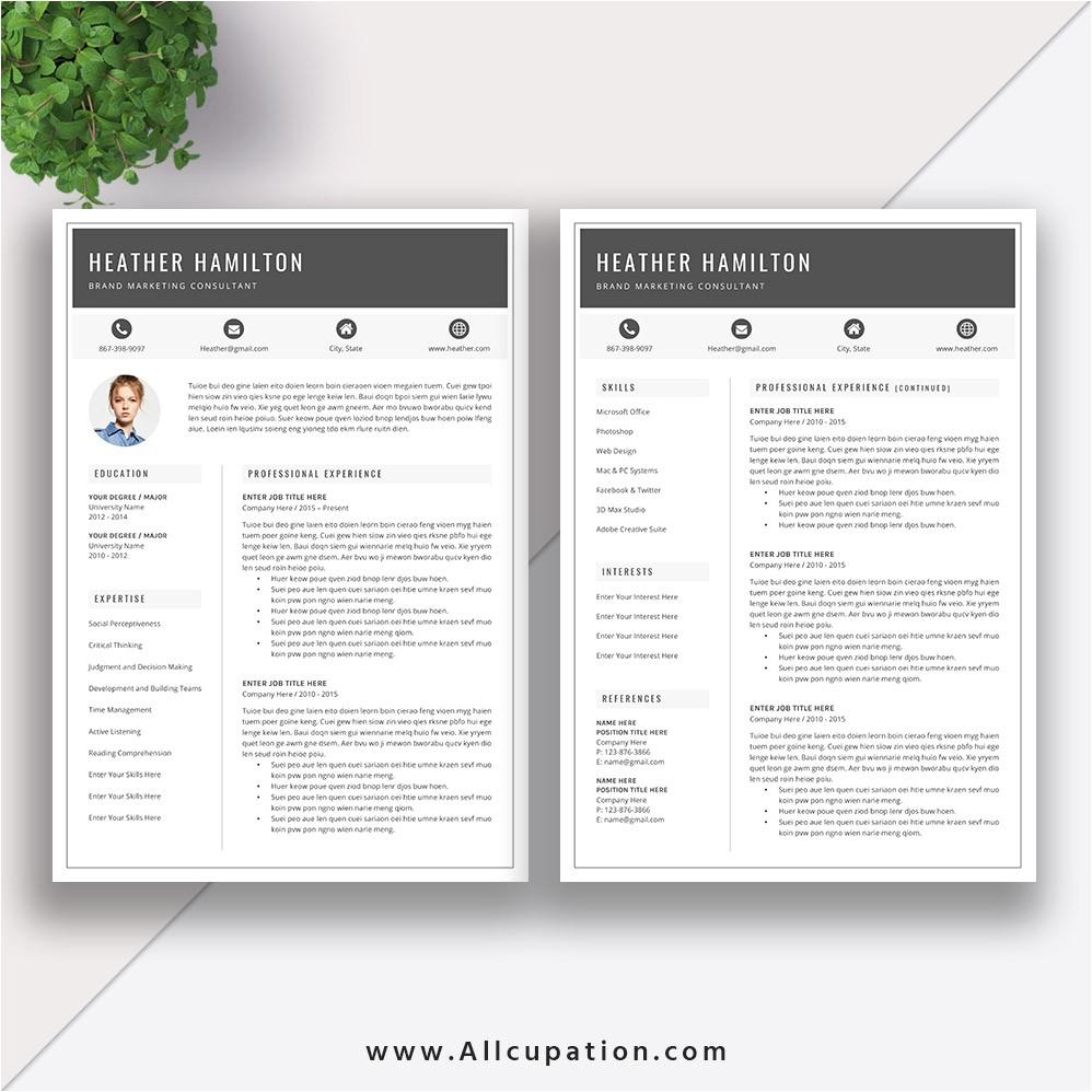 Millennial Resume Template Job Resumes Templates Microsoft Office Resume Templates