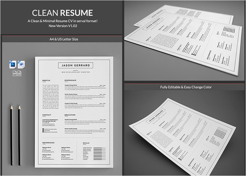 Minimalist Resume Template Word 20 Professional Ms Word Resume Templates with Simple Designs