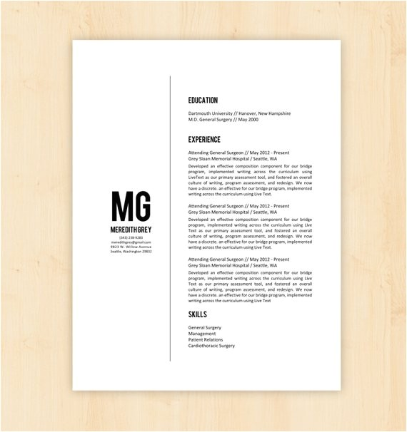 free minimalist word resume template
