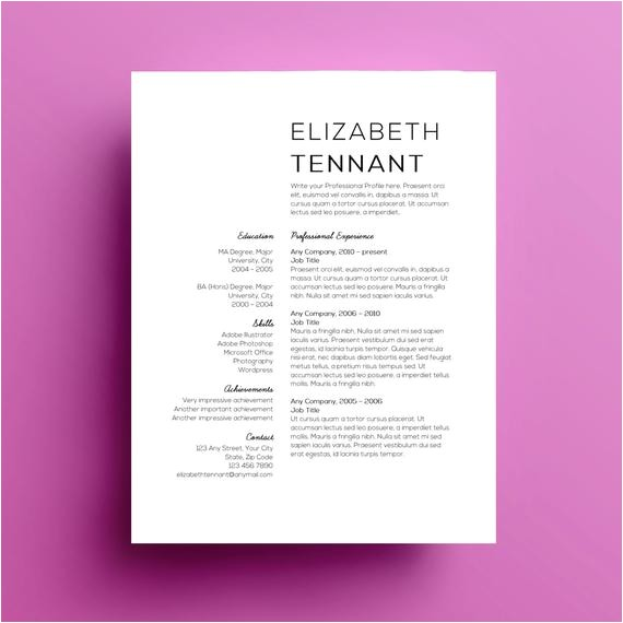 Minimalist Resume Template Word Minimalist Resume Template Joy Studio Design Gallery