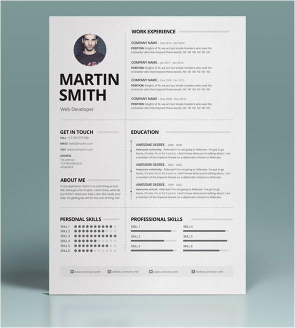 Minimalist Resume Template Word Modern Cv Resume Templates with Cover Letter Design