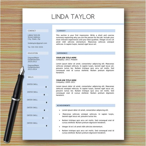 professional modern resume template for
