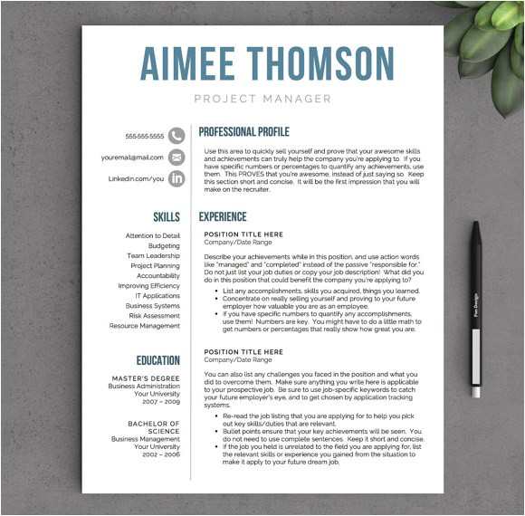 sample modern resume