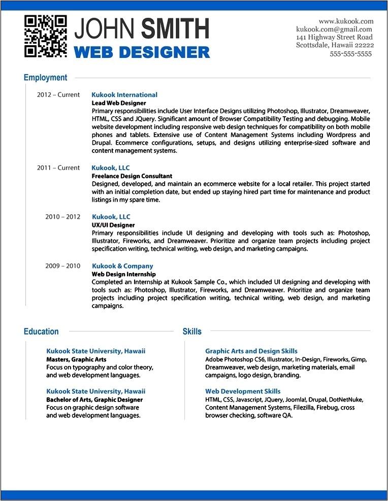 free modern resume template 2016