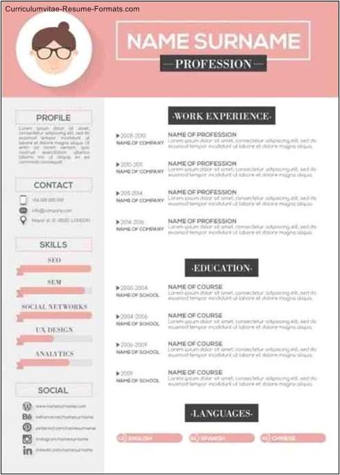 free modern resume templates download
