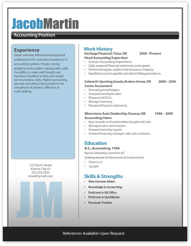 Modern Resume Templates Free Modern Resume Template Latest Information