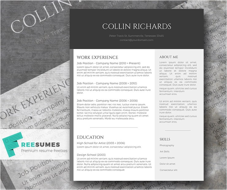 Modern Resume Templates Free Plain but Trendy the Free Modern Resume Template Freesumes