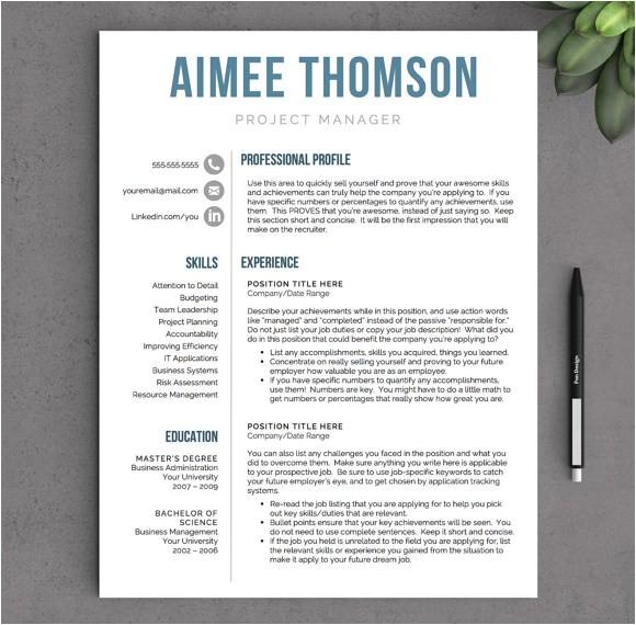 sample modern resume
