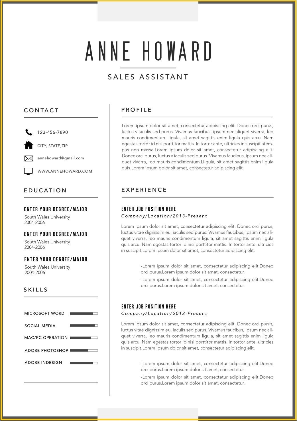 Modern Resume Templates Word Free Modern Resume Templates Microsoft Word Modern