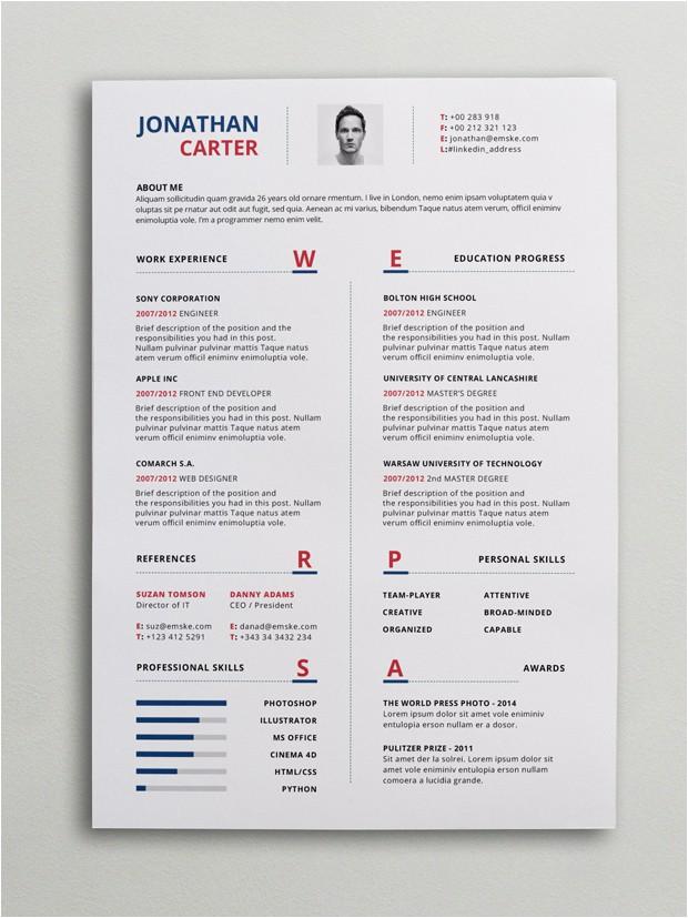 Modern Resume Templates Word Modern Resume Template Psd Word