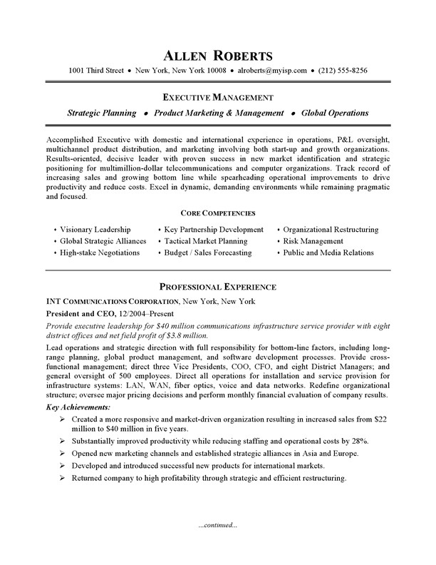 example resume monster
