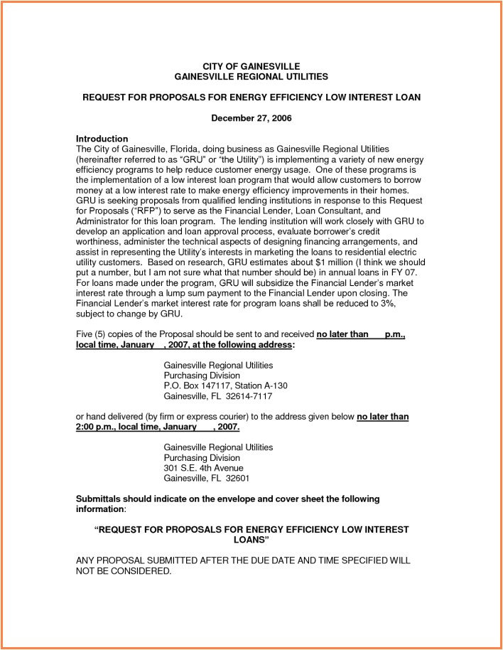 Mortgage Proposal Template 6 Business Proposal for Loan Project Proposal