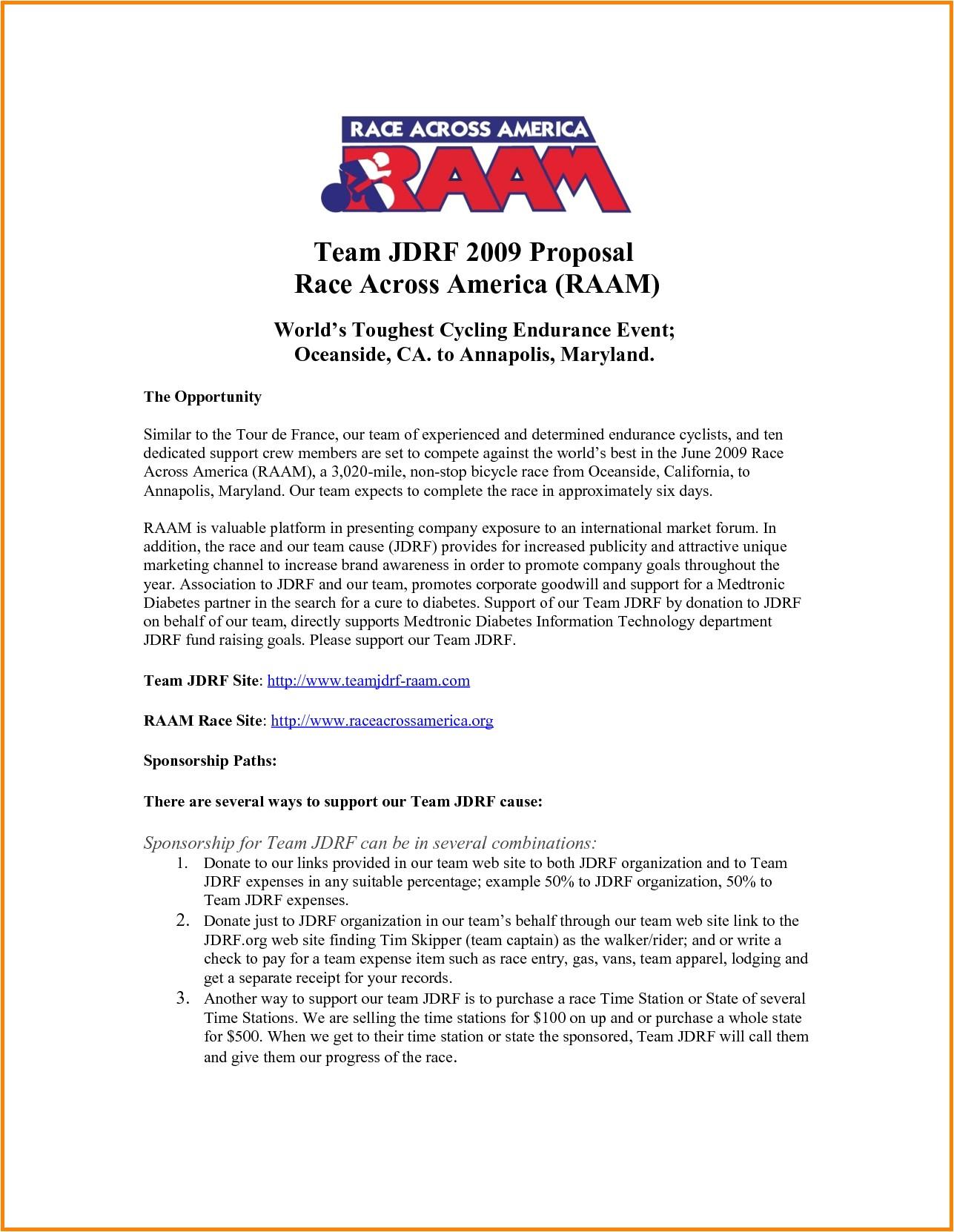 free racing sponsorship proposal template